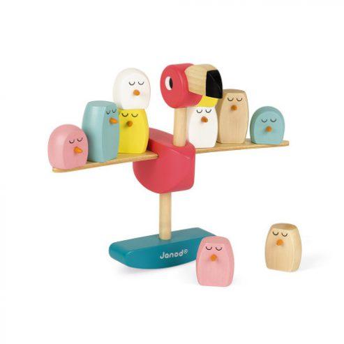 juego-de-equilibrio-flamenco-rosa-zigolos-madera